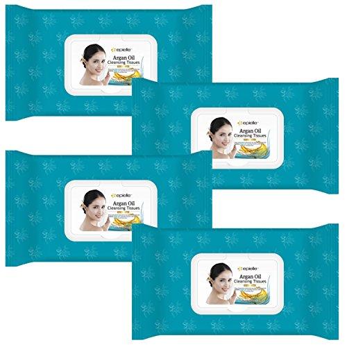 - Kareway Epielle Argan Oil Makeup Remover Cleansing Towelettes, 60 Counts (Pack of 4)