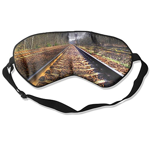 Sleep Mask Train Railway Eye Cover Blackout Eye Masks,Soothing Puffy Eyes,Dark Circles,Stress,Breathable Blindfold for Women Men