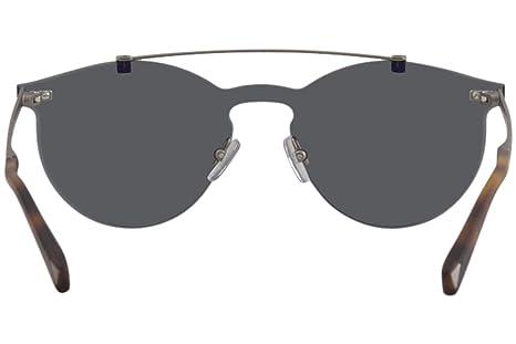 ee39716eb1e Amazon.com  Sunglasses Ermenegildo Zegna EZ 69 EZ 0069 20X grey other   blu  mirror  Clothing