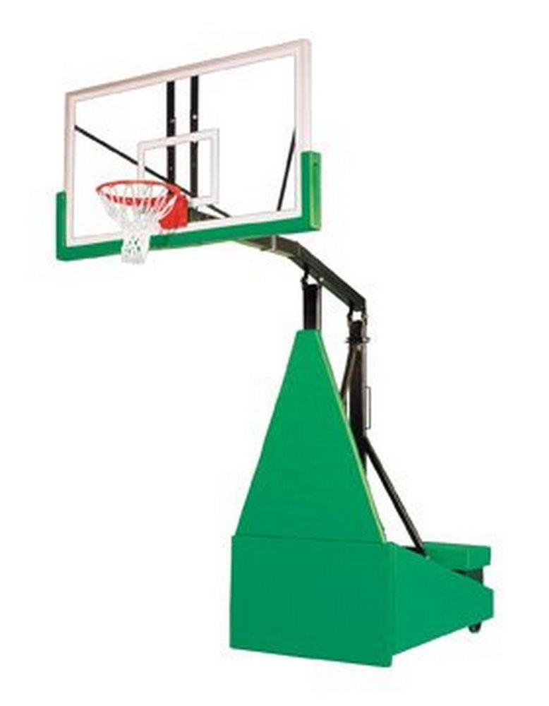 最初チームStorm Arena steel-glassポータブルバスケットボールシステムwith公式ガラスbackboard44 ;ゴールド B01HC0B2MA