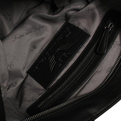 Fritzi aus Preußen Pilar Saddle Bolso a hombro 42 cm Negro