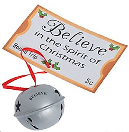 Believe Christmas Bell Ornaments 12 Pack ()