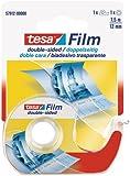 tesafilm Lot de 10 adhésifs Double-face photo transparent 7,5m x 12mm avec dévidoir