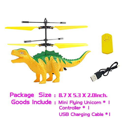 Anda RC Flying Helicopter Dinosaurs Dragon Toys for 6 Year Old Boys Girls Kids, Mini Remote and Hand Controlled Dinosaurs Helicopter for Birthday Holiday Xmas by Anda (Image #4)