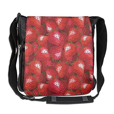 Lovebbag Fruit Theme Decorations For Home Illustration Of Strawberries Pattern Crossbody Messenger Bag good