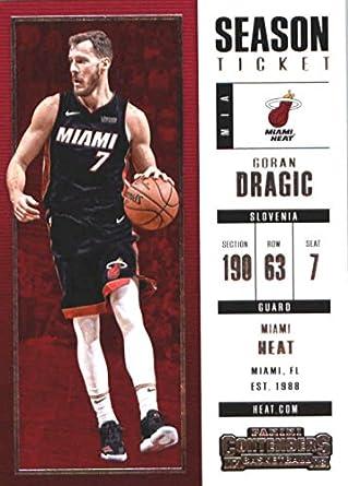 2017-18 Panini Contenders Season Ticket  34 Goran Dragic Miami Heat  Basketball Card edb33014a