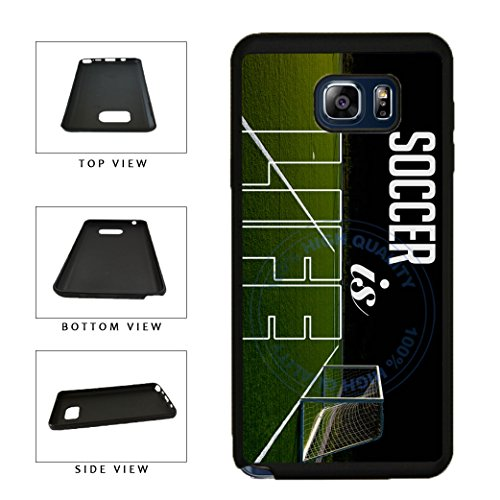 BleuReign(TM) Soccer Is Life TPU RUBBER SILICONE Phone Case Back Cover For Samsung Galaxy S8 Plus