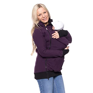 b633ff21b8972 ECSEO 3 in 1 Baby Carrier Jacket Kangaroo Hoodie Coat for Pregnant Women  Maternity Coat Jacket Sweatshirt