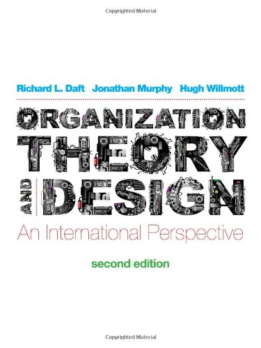 Download Organization Theory And Design An International Perspective Pdf Download By Jonathan Murphy Formencycons