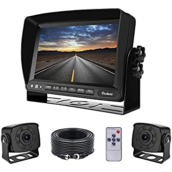 Amazon Com Dual Backup Cameras And Monitor Kit Wired For