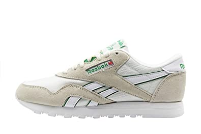 save off ed20a 0ded3 Reebok WMNS Classic Nylon (Beige/Green): Amazon.co.uk: Shoes ...