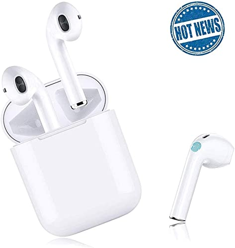 Wireless Earbuds Bluetooth 5.0 Headsets 3D Stereo Headphones with Fast Charging Case,Auto Pairing in-Ear Ear Buds IPX5 Waterproof Mini Sports Earphones for iPhone Apple Android Bluetooth Earbuds
