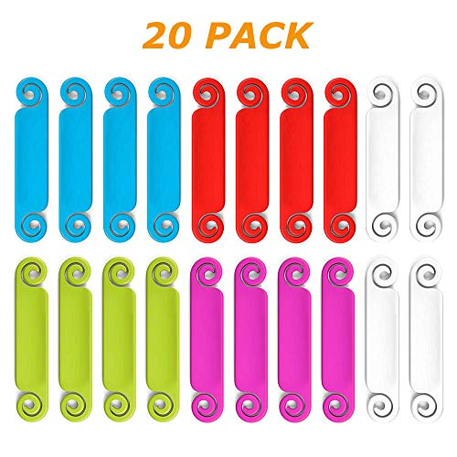 Cable Tags Multicolored Write on Cord and Cable Identification and Marking System, 20 Pieces (Electronic Cord Tags)