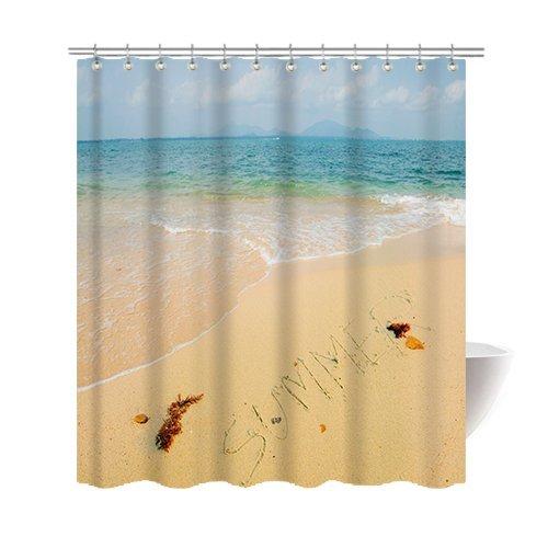 Amazon Com Gwein Summer Beautiful Beach Shower Curtain