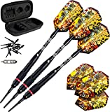 Viper Jaguar 80% Tungsten Soft Tip Darts with Storage/Travel Case, Fine Knurling, 18 Grams