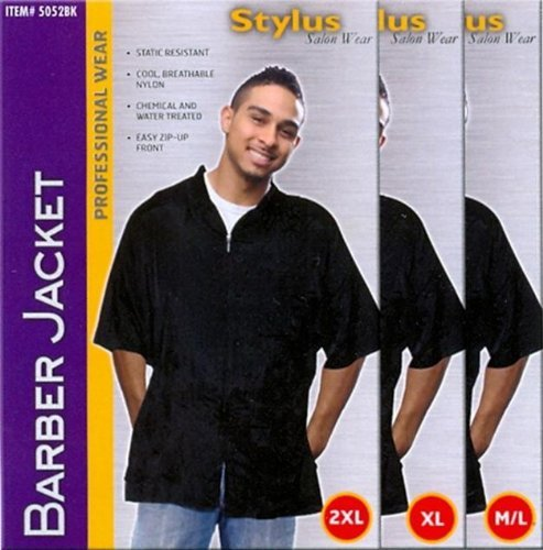 Barber Jacket Nylon Zip Up Front product image