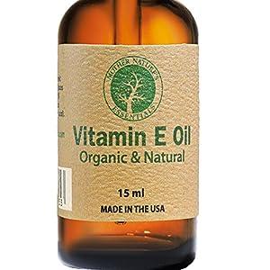 Vitamin E Oil 100% Organic & Natural Highest Quality Organic Vitamin E Oil (d-alpha-tocopherol) + Organic Coconut Oil+ Organic Jojoba+ 100% Natural Vitamin C. 15ML
