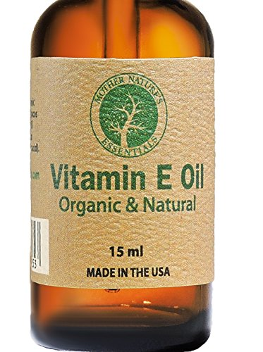 Vitamin E Oil 100% Organic & Natural Highest Quality Organic Vitamin E Oil (d-alpha-tocopherol) + Organic Coconut Oil+ Organic Jojoba+ 100% Natural Vitamin C. 15ML