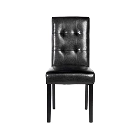 Phenomenal Amazon Com Wuhuizhenjingxiaobu Dining Chair Black Pu Gmtry Best Dining Table And Chair Ideas Images Gmtryco