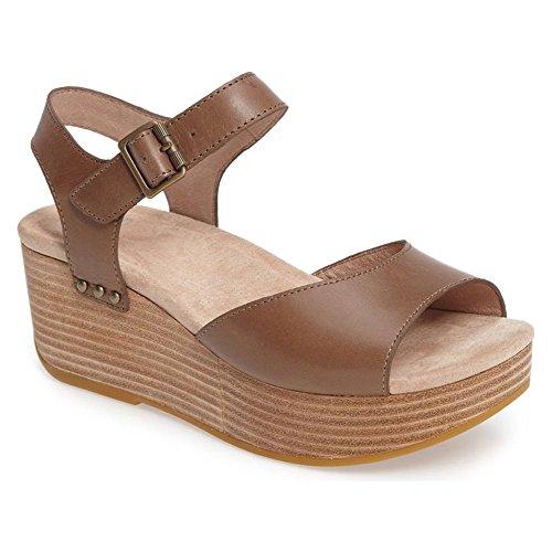Dansko Women's Silvie Platform Sandal, Walnut Burnished, 38 EU/7.5-8 M US