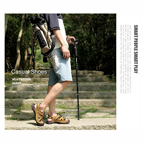 de Deportes Sandalias de de Hombres Playa de los Zapatos Trekking Hombre Playa Verano vadeo de de Caminata de de YaXuan Aire Senderismo Cerrada Zapatos para de Libre Punta Cuero UN al Sandalias v6nx0qH