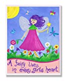The Kids Room by Stupell A Fairy Lives In Every Girl's Heart Rectangle Wall Plaque, 11 x 0.5 x 15, Proudly Made in USA