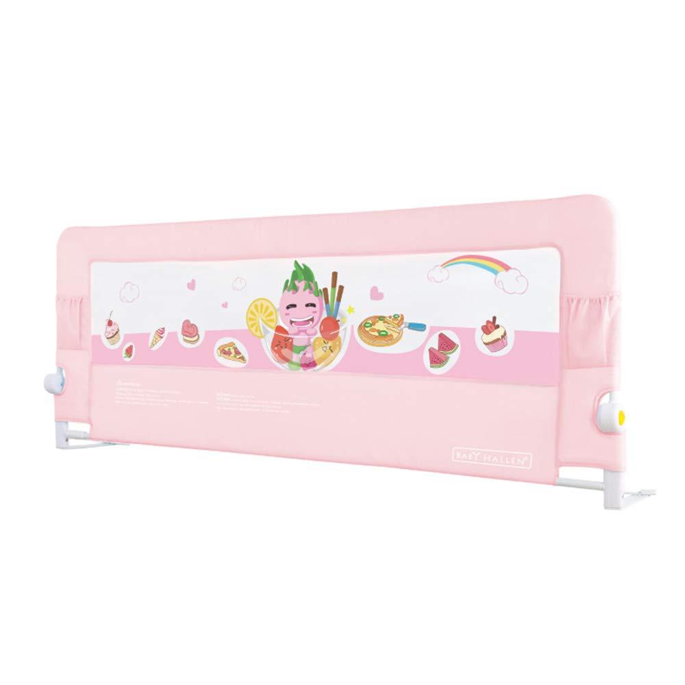 王様 ガードレール ベビーキッズベッドサイドキッズガードレールベッドガードレールアンチドロップバッフルユニバーサル (Color : Pink, Size : L-180cm) L-180cm Pink B07TK3CTLX