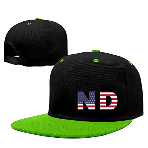 Nd State Of North Dakota Flag Adjustable Snapback Caps Flat Brim Hip-Hop Cap ()