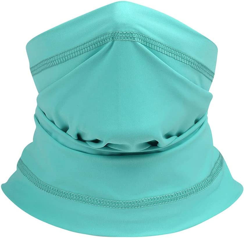 LXZH Multifunctional Dust Mask Magic Scarf Summer Ice Silk Breathable Seamless Tube Mask Face Headwear Headscarf Outdoor Sports Bandanas for Men and Women