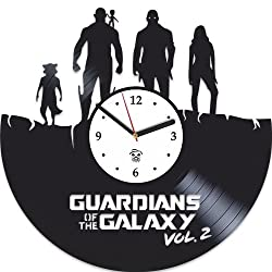 Kovides Guardians of the Galaxy 2 Hero Best Gift For Him Vinyl Wall Clock Home Decor, Decoration Living Room Inspirational Comics Marvel DC Movie, Vinyl Wall Clock with Silent Mechanism, Wall Sticker