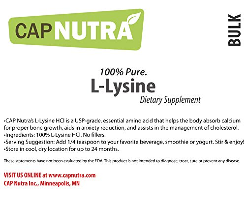 Nutrition Bulk L Lysine Powder