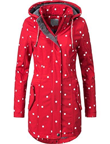 Peak Time Manteau de Saison intermdiaire Veste Soft Sell pour Femme L60013 7 Couleurs S-XXL Rouge Point