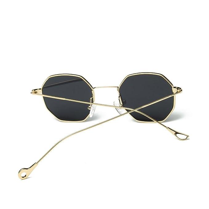 VJGOAL moda unisex metal Irregularidad montura Gafas retro ...