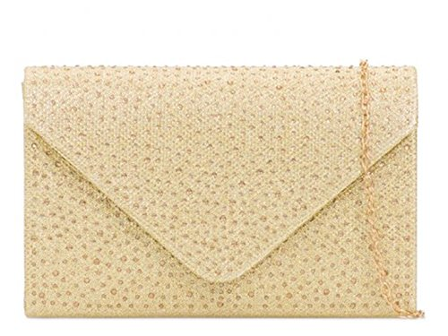 Clutch Glitter Bag Wedding Gold Handbags For 2147 Prom Women's LeahWard wq1xO5HH