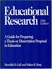 Educational research thesis