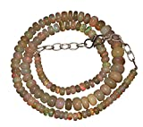 """94 CTW 4 to 8.5 mm 16"""" Multi colour Ethiopian Opal Stone Beads Necklace 94714"""