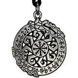 Invincibility in Battle Aegishjalmur Rune Pendant Norse Asatru Viking Jewelry Talisman Necklace