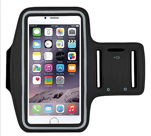 Y&F Cell Phone Armband,Sweatproof Sports Armband for Running for iPhone 6 Plus 6S Plus 7/8 Plus Samsung Galaxy S7 S6 Note 2,Adjustable Reflective Workout Band, Key Holder & Screen Protector