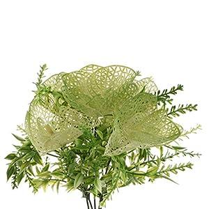 Homyl Bunch Artificial Plants Seaweed Garden Wedding Decor Phalaenopsis/Vine/ Persian Grass/Perilla Leaves/Staghorn Fern/Sago Cycas Leaves/Air Grass 3