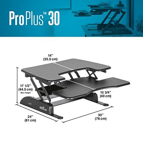 Varidesk Height Adjustable Standing Desk Pro Plus 30