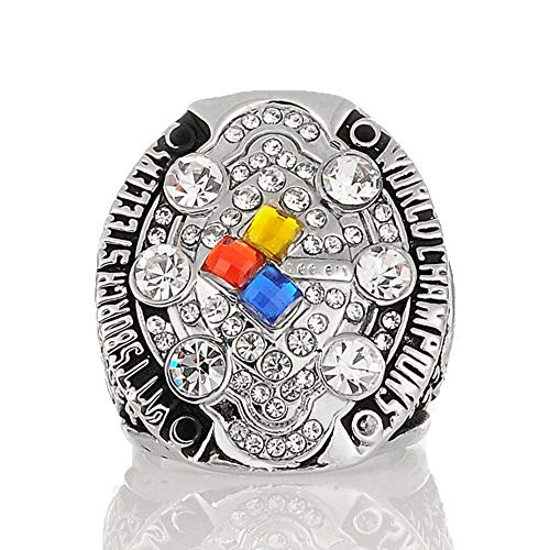 Gloral HIF Pittsburgh Steelers 2008 Super Bowl XLIII World Champions Replica Championship Ring Silver Without Box