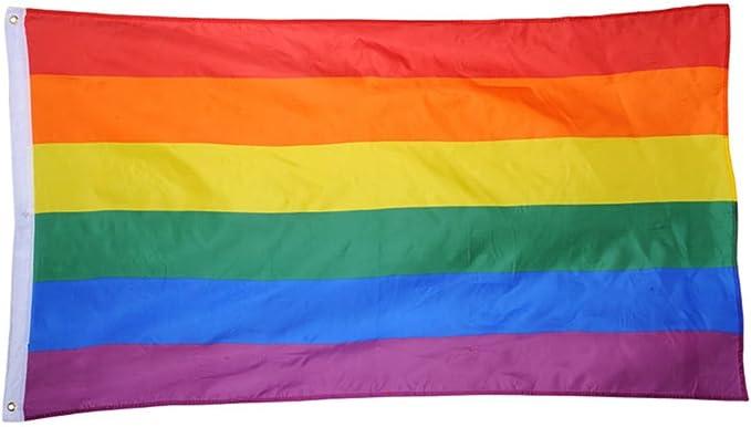 Hemore Bandera de Arcoiris,Bandera LGBT Grande 150×90cm ...