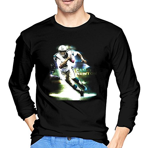 Man's Cam Newton Carolina Panthers T Shirts Black