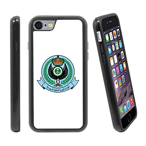 (Shockproof Apple iPhone 6 / 6S (4.7 inches) Anti-Scratch Dual Layer Black Rugged Protective Case with Color Printing - Royal Saudi Air Force embelm)