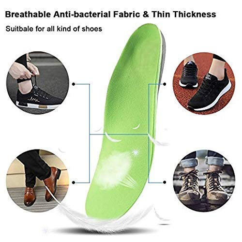 Orthotic Inserts with Arch Support Best Shock Absorption Orthotic Shoes Support Relieve Foot Pain for Plantar Fasciitis/Flat Feet for Men/Women ()