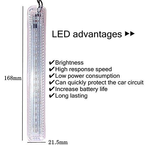 2pcs LED Car Auto veh/ículo Universal side espejo trasera espejo /ámbar//azul 18/SMD lateral retrovisor Espejo Intermitente Luz luz diurna car-styling 12/V resistente al agua