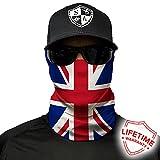 Salt Armour Face Mask Shield Protective Balaclava Bandana MicroFiber Tube Neck Warmer - Union Jack