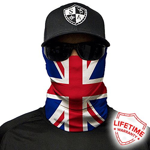 Salt Armour Face Mask Shield Protective Balaclava Bandana MicroFiber Tube Neck Warmer - Union Jack (Union Flag)
