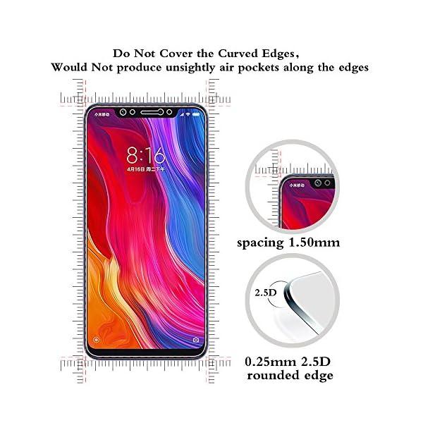 ANEWSIR [2-Pack Protector de Pantalla para Xiaomi Mi 8, Cristal Templado Xiaomi Mi 8, [ 6.21 Pulgadas] [9H Dureza] [2.5D…