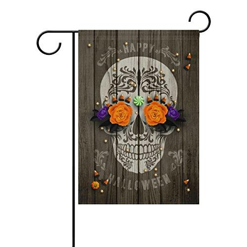 U LIFE Decorative Happy Halloween Skull Candy Garden